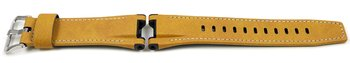 Genuine Casio Replacement Beige Leather Watch Strap for...