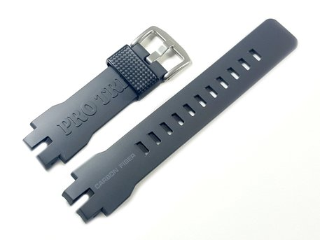 Genuine Casio Dark Grey Carbon Fiber insert Resin Strap for PRW-6100Y-1A, PRW-6100Y