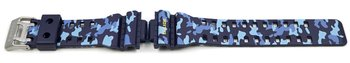 Genuine Casio Replacement Blue Camouflage Watch Strap for...
