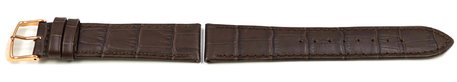 Dark Brown Leather Watch Strap Lotus for 15958