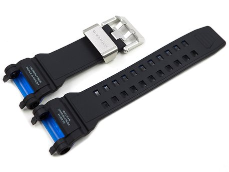 Genuine Casio Black/Blue Carbon Fiber insert Resin Strap for GPW-2000-1A2ER