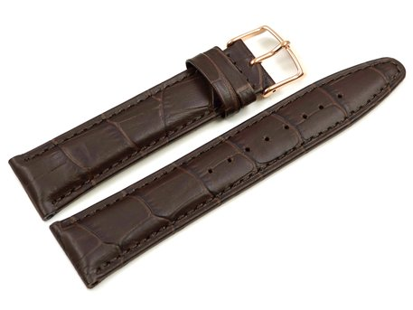 Brown Leather Watch Strap Lotus for 9993