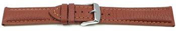 Watch strap - strong padded - Deer Leather - brown - Soft...
