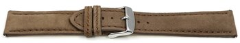 Watch strap - Genuine leather - vegetable tanned - brown...