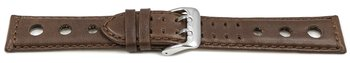 Watch strap - Genuine leather - perforated - Vegetable...