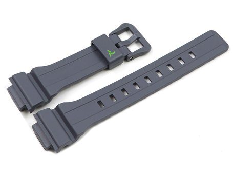 Casio Grey Resin Strap with Green Logo STL-S300H-4A