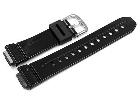 Genuine Casio Replacement Shiny Black Resin Watch Strap for BG-5601 BG-5601-1