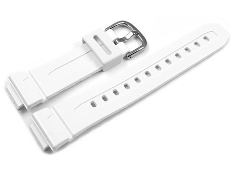 Genuine Casio Replacement White Resin Watch Strap for BG-5601 BG-5601-7