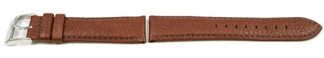 Genuine Lotus Light Brown Leather Watch Strap for 15848/1 15848