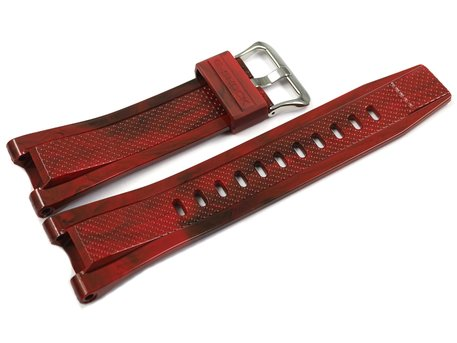 Casio Resin Red flecked with Black Watch Strap GST-210M-4A GST-210M-4