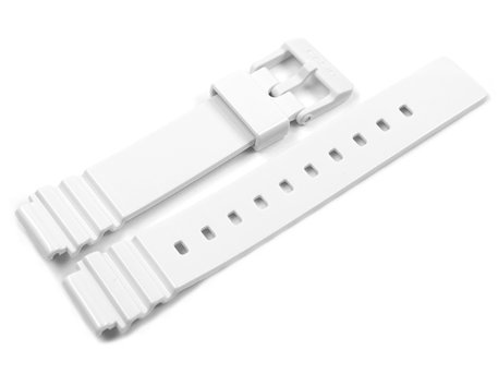 Casio Shiny White Resin Watch Strap Casio for LRW-200H
