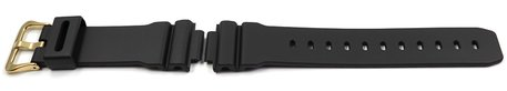Casio Black Watch strap with Gold Tone Buckle for DW-9052GBX-1A9