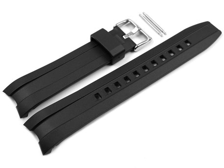 Casio Black Rubber Replacement Watch Strap for MTD-1082