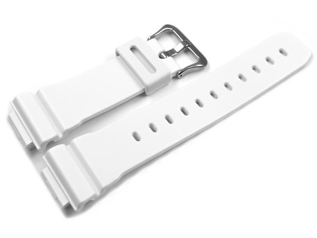 Casio White Resin Watch Strap for GW-M5610MW-7