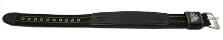 Casio Black Cloth/Leather Watch Strap Green Stitching PRG-130GC-3