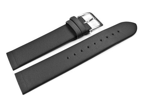Watch Strap suitable for SKW2059 - Black Leather Watch Band