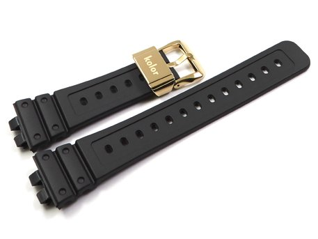Kolor x Casio G-Shock Watch Strap GMW-B5000KL-9 with gold coloured buckle