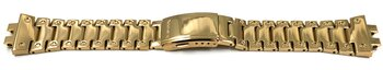 Casio Polished Gold-tone Stainless Steel Strap...