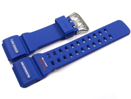 Casio Blue Resin Replacement Watch Strap for GG-1000TLC-1A