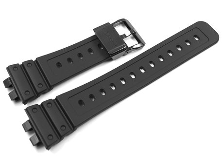 Genuine Casio Full Metal Square Series Black Resin Watch Strap for GMW-B5000G-1