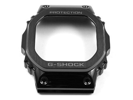 Genuine Casio Full Metal Square Series Black Stainless Steel Bezel for GMW-B5000G-1