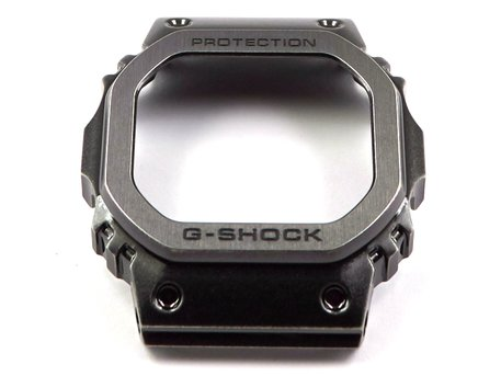 Casio Black Aged Metal Stainless Steel Full Metal Square Series Bezel for GMW-B5000V-1