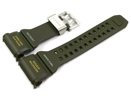 Casio Olive Green Resin Carbon Fiber insert Replacement Strap GPR-B1000-1B GPR-B1000-1BER
