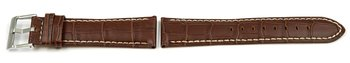 Watch Strap - Lotus - for 15387/3, 15387 - Brown Leather...