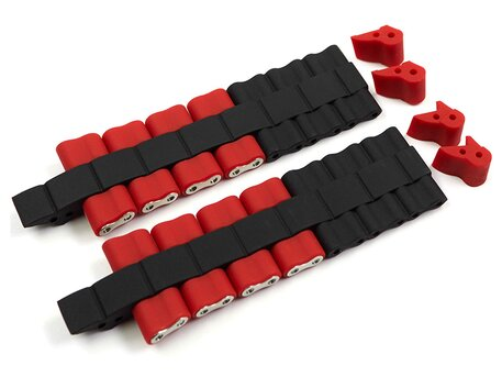 Festina Black Red Rubber coated Steel Watch Strap for F16659/8