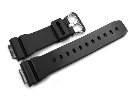 Genuine Casio Black Resin Watch Strap for DW-6900BBA-1 DW-6900BBA