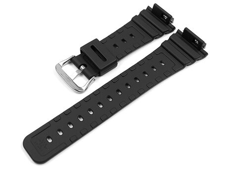 Casio Black Resin Watch Strap with polished stainless steel buckle for GA-2100-1AER