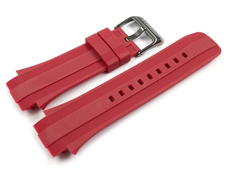 Genuine Lotus Red Rubber Watch Strap for 15791/6 15791