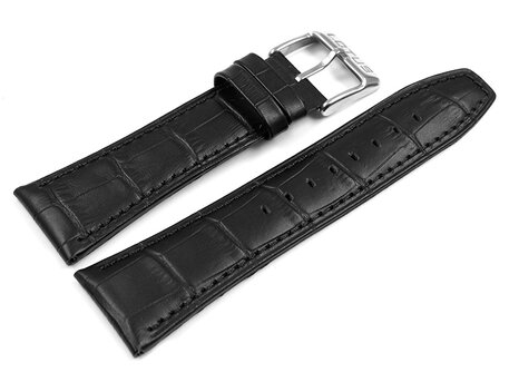 Genuine Lotus Black Leather Watch Strap 18221 suitable for 15536