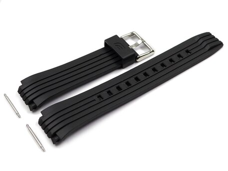 Genuine Casio Black Resin Watch strap for ECB-10P-1 ECB-10YP-1 ECB-10P ECB-10YP