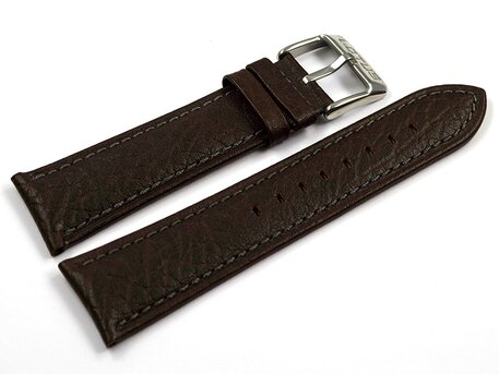 Genuine Lotus Dark Brown Leather Watch Strap for 15856/4 15856