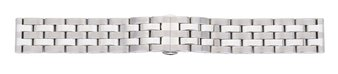 Metal watch band - Butterfly - Solid - polished and brushed