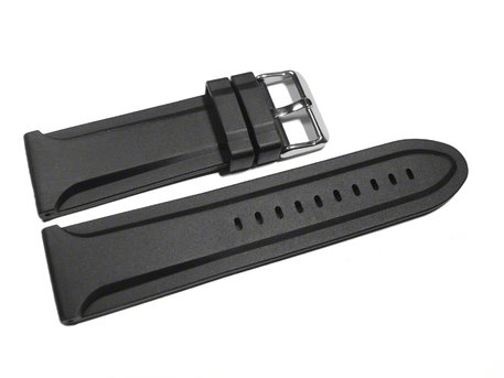 Watch strap - Silicone - smooth - extra strong - 26,28 mm