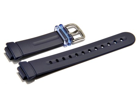 Watch strap Casio for Baby-G - BG-1001-2CV, rubber, dark-blue