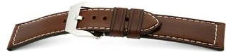 Strong buckle watch strap - Oiled Russian leather - brown