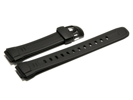 Watch strap Casio for WV-58, rubber, black