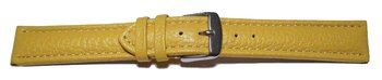 Watch strap - Genuine grained leather - yellow