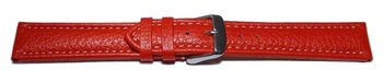 Watch strap - Genuine grained leather - red