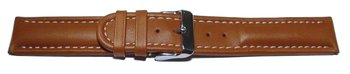 Watch strap - Genuine leather - smooth - light brown