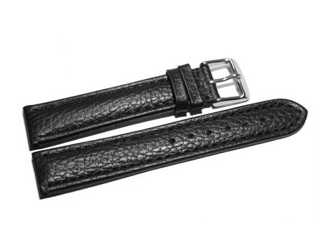 Watch strap - Genuine grained leather - black