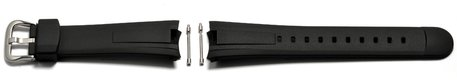Watch strap Casio for EF-305-1AV, rubber, black