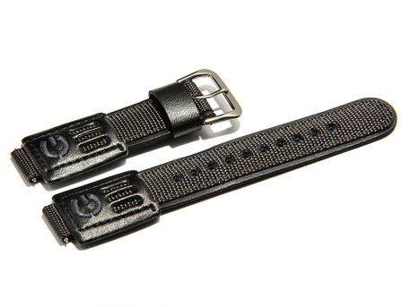 Genuine Casio Replacement grey/black Leather/Cloth Watch strap for DW-003B, DW-004B, DW-9000
