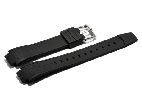 Watch strap Casio for MTD-1057, MDV-501, rubber, black
