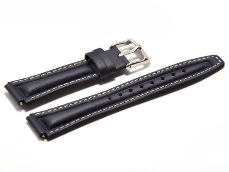 Watch strap Casio for EFA-113L-1A2V, Leather, blue