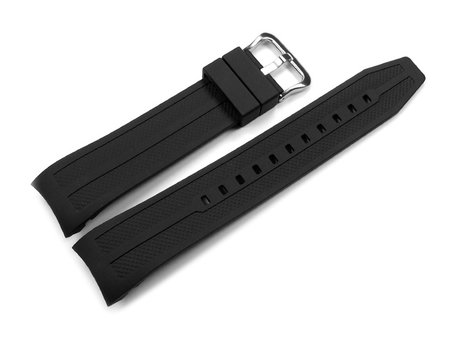 Watch strap Casio f. AMW-706, AMW-704, rubber, black