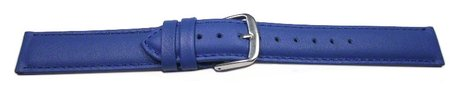Watch band - genuine leather - smooth - blue